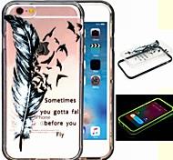 2-in-1 der Traum Fliegenmuster tpu rückseitige Abdeckung mit pc Autostoßfest Hülle für iPhone 6 / 6S lassen