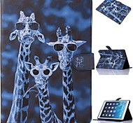 Special Design Coloured Drawing or Pattern Graphic Wallet Cases with Stand Full Body Cases for iPad Air