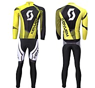 KEIYUEM Bike/Cycling Arm Warmers / Tights / Jersey + Shorts / Clothing Sets/Suits Unisex Long SleeveWaterproof / Breathable / Insulated /