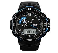 Masculino Relógio de Pulso Quartz LED / Calendário / Cronógrafo / Impermeável / Dois Fusos Horários / alarme / Relógio Esportivo PU Banda