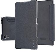 NillKin сверкать ПУ кожаный чехол Чехол кожаный тонкий импортированы услуга смарт сна для Xperia z5 5,2 дюйма