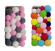 Hot Selling Colorful Pompon Mobile Phone Back Cover for iPhone 6/6S(Assorted Colors)