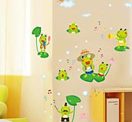 Cartoon Happy Frog  Stickers Wall