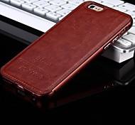 o novo couro de luxo para trás e caixa do telefone armação metálica para iphone6 mais / 6s mais (cores sortidas)