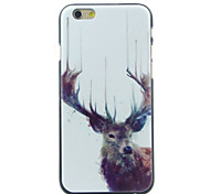 Horned Deer Pattern  Hard Case for iPhone 6/6S