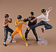 4Pcs/Set Cool Bruce Lee Kung Fu PVC Action Figures Collection Toys