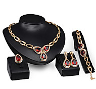 New Products 18k Gold  Jewelry Romantic  Necklace Jewelry Sets For Bridal Bijoux