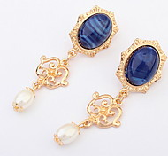 Luxury  Elegant Pearl Goddess Sapphire-jewelry Earrings