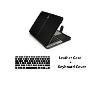 """forma 2 em 1 pu laptop couro caso da tampa + tampa do teclado para MacBook Air 11 """"/ 13"""""""