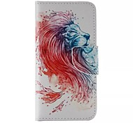motif de lion en cuir de mobile pour iphone 6 / 6s