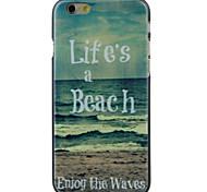 la vie de plage de haute qualité et bon disque cas de motif de prix pour iphone 6 / 6s