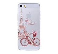 Latest Bicycle Pattern Swarovski Diamond High Quality Laser Relief Touch Phone Case for iPhone 5 / 5S