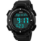 Skmei® Men's Big Size Dial PU Band Outdoor Sports LED Multifunction Wrist Watch 50m Waterproof