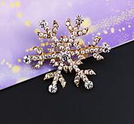 старинные декор алмаз снежинка брошь