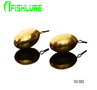 Afishlure Copper Pour Lure Weights Fishing Accessaries Fishing Weight Copper Pendants  10g Fishing Sinkers 4pcs/lot