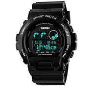 Skmei® Men's PU Band Outdoor Sports LED Multifunction Wrist Watch 50m Waterproof