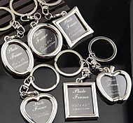 Creative Couple Keychain Metal Frame Photo Studio Promotional Advertising Gifts Key Ring Graduation Pictures