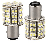 2*Car 1157 1016 White 3528 SMD 60 LED Tail Brake Light Bulb Lamp