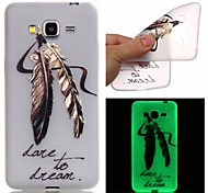 New Feather Pattern TPU Material Luminous Phone Case for Galaxy G530/G360/J3/J1 Ace/I9060