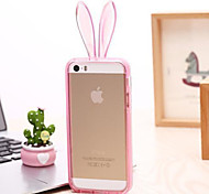The New Rabbit EarsStand  Transparent Green Material TPU Phone Case for iPhone 6 / 6S (Assorted Colors)