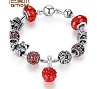 Glass alloy beads bracelet PA1457 euramerican popularity