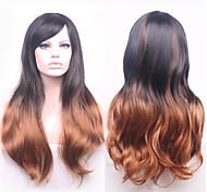 la mode bon marché perruques bicolore perruques synthétiques perruque ondulée, Vente en gros ombre perruques la meilleure perruque