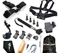 Accessori GoPro Montaggio / Con bretelle / Sacchetti / Vite / Reinigungs-Tools / Boje / Sog / Impugnature / Accessori Kit / Clip PerGopro