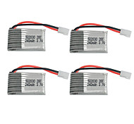 Remote Control Aircraft Battery 6020303.7 V 240mAh20C Syma X4X11 China Cole Di Toys Dedicated  4 pieces