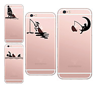 For iPhone 7 MAYCARI®Going Angling Soft Transparent TPU Back Case for iPhone5/iPhone5s