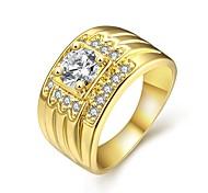 Ringe Hochzeit / Party / Alltag Schmuck Zirkon / vergoldet / Rose Gold überzogen Damen Statementringe 1 Stück,8 / 9 / 10Goldfarben /