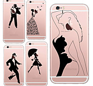 MAYCARI®Beauties and Dancers Soft Transparent TPU Back Case for iPhone 6/iphone 6S(Assorted Colors)