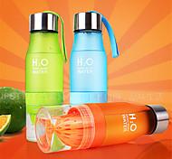 1Pcs 650ml Health Lemon Juice Cup Bottles Fruit Water Bottle Couples Cup Drinkware For Outdoor Sports Bike My Bottle