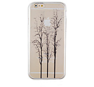 The Trees Black Pattern Transparent Phone Case Back Cover Case for iPhone6 Plus/6S Plus