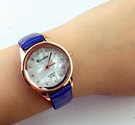 Mujer Reloj de Moda Cuarzo PU Banda Múltiples Colores Café Rojo Rosa Azul Claro # 1