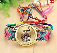 orologi lana tessuta orologio elefante della donna