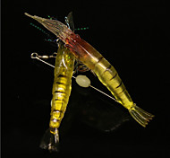 10Pcs/Bag 10cm/6g Luminous Pearl Soft Big Shrimp Bait Shrimp Soft Lures Wholesale
