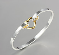 "Noble Quality 925 Sterling Silver""Heart-shaped""Bangles Party Daily Bangles For Woman&Lady"