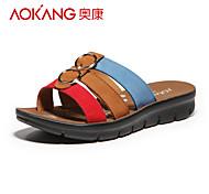 Aokang Women's Suede Flat Heel Flip-Flops