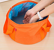 Outdoor Camping Hiking Portable Multi-purpose Folding Wash Basin(Assorted Colors)