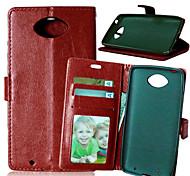 PU cuir carte portefeuille titulaire de luxe reposer le couvercle rabattable avec étui de cadre photo en moto xt1254 (couleurs assorties)