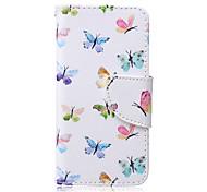 kleinen farbigen Schmetterling Muster PU-Material Kartenhalterung iPod Touch 6.5