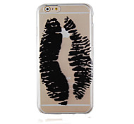 Graffiti Black Pattern Transparent Phone Case Back Cover Case for iPhone6 Plus/6S Plus