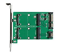 Maiwo 2xSATA TO 2xmSATA Card Convertor Card KT007A