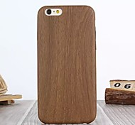 High Class PU Leather Luxury Original Wood Grain Back Cover Case for iPhone 6/6S Plus (Assorted Colors)
