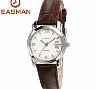 EASMAN New Women Italy Leather Date Wrist watch Ladies Girl Stainless Steel Case Analog Watches for Women Lover's Gift
