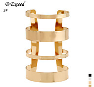 D Exceed Women Cuff Bracelets Gold Silver Filled Fashion Hollow Out Design Wide Bracelet Free Shipping