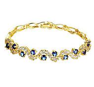 Chaînes & Bracelets 1pc,Or jaune Bracelet Plaqué or Bijoux Femme