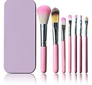 Taobao Selling 7 Pink Iron Boxed Makeup Brush Set
