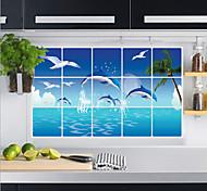 Aluminum Foil Kitchen Oil Proof Wall Stickers