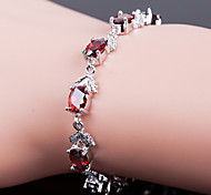 Top Quality AAA Zircon Bracelet Fine Jewelry ,Fire RedImitation Diamond Birthstone